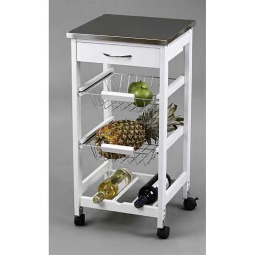 Cestini carrello da cucina + Portabottiglie in acciaio inossidabile  Kitcloset