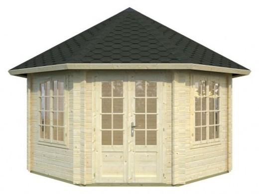 Pavillon de jardin en bois Hanna 4,21 m2 - Madriers 44 mm