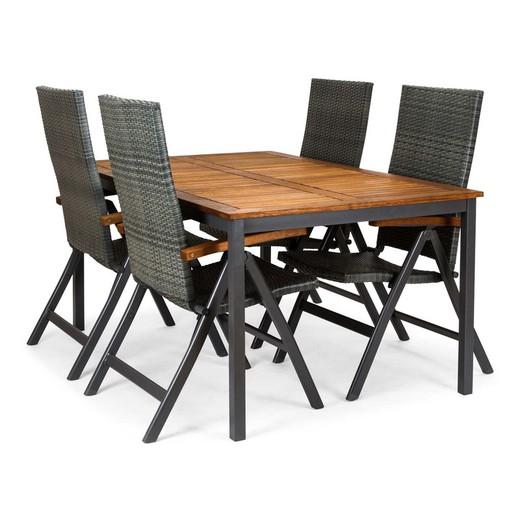 Tavoli Da Giardino In.Chillvert Set Da Tavolo Da Giardino In Legno Di Eucalipto Di