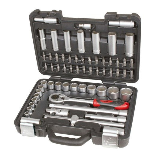 Ratio 5997h218/Werkzeugkoffer 218/Teile 1//4/3//8 1//2/C