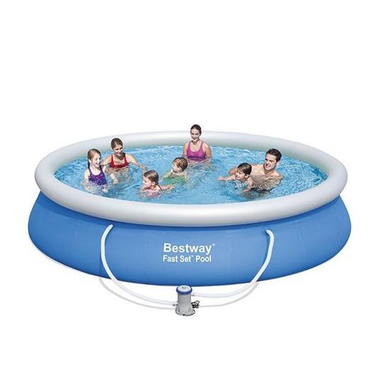 Piscina desmontable bestway 427x91cm depuradora de for Depuradora para piscina hinchable