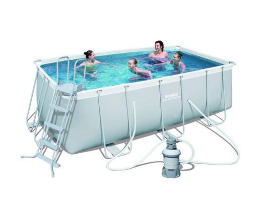 Piscina desmontable tubular bestway power steel for Ofertas piscinas desmontables rectangulares