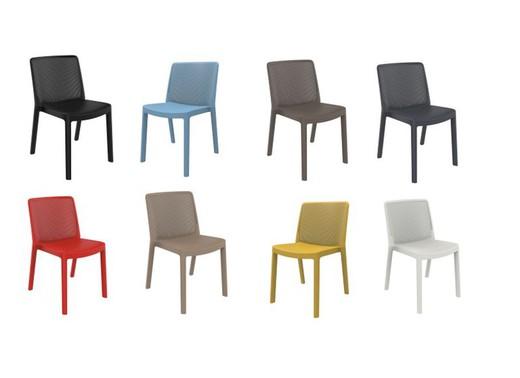 September 4 o 6 sedia fibre iniettato e 50,4 x 54,6 x 78,4 pp Fresh cm Resol