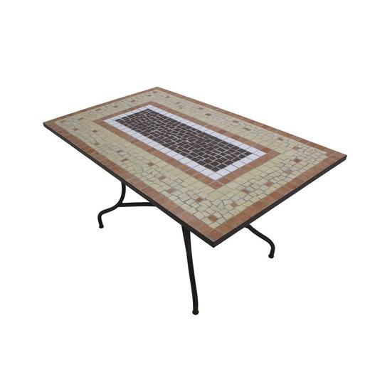 Set de mesa de comedor con 4 sillones y 4 cojines Mara/Bahía-150/4+4c