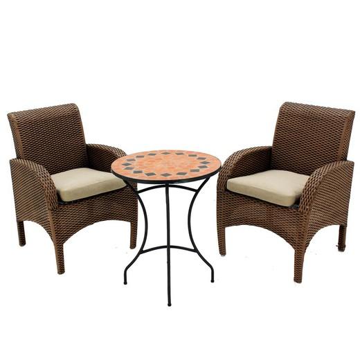 Conjunto de jardín compuesto de: terraza con 2 sillones España/Praga 60/2