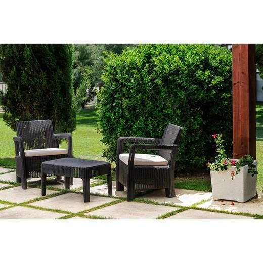 Petit Salon De Jardin 2 Places Aspect Resine Tressee Modele Tarifa Differents Coloris