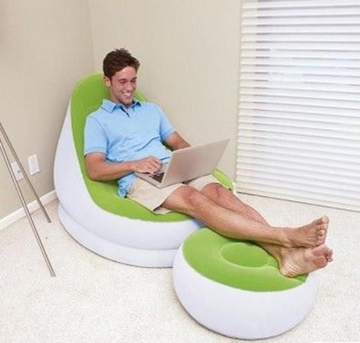 aufblasbarer sessel bestway mit fu st tze brycus. Black Bedroom Furniture Sets. Home Design Ideas
