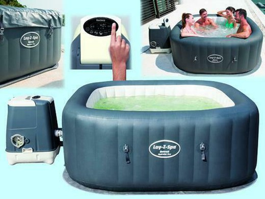 Bestway Lay Inflatable Spa Z Spa Hawaii Hydrojet Pro For 4 6
