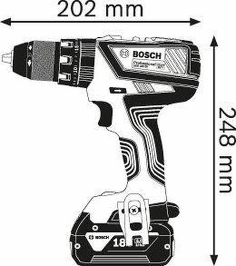 Drill With Battery Percussion Li Gsb 18v 28 Professional Bosch Dynamic Range Brycus