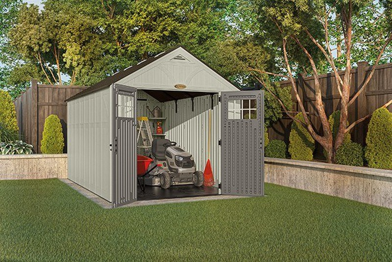 grand abri de jardin poly thyl ne suncast woodgrain 8160. Black Bedroom Furniture Sets. Home Design Ideas