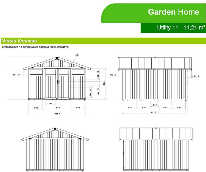 Caseta de resina garden grosfillex home utility 11 21m2 for Caseta de jardin grosfillex