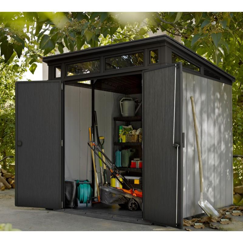 Abri de Jardin Résine Brossée - Keter Artisan 77 - 4,66 m2 — BRYCUS