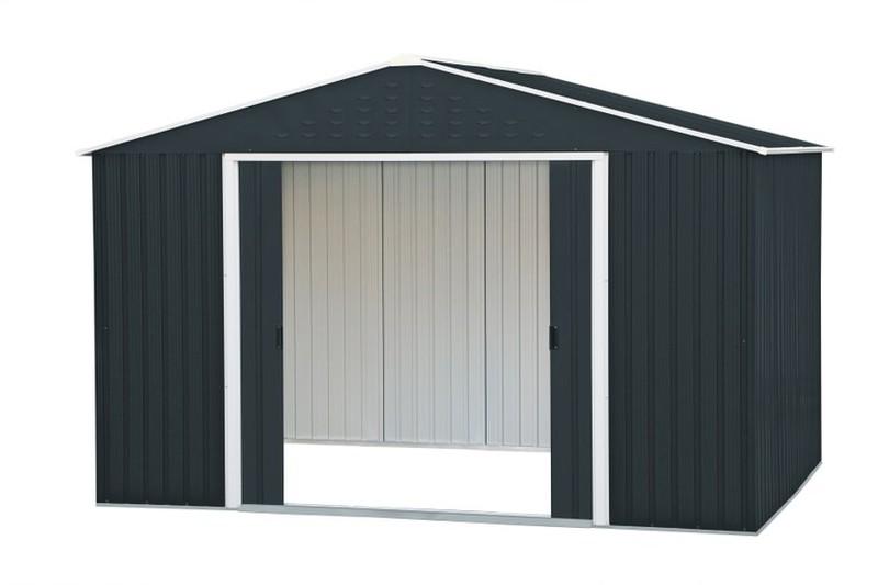 grand abri de jardin m tal gris anthracite duramax. Black Bedroom Furniture Sets. Home Design Ideas