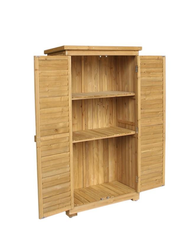 Cobertizo armario de madera emmy persiana delantera 87 x 46 5 x 160 cm madera maciza uso - Armario de madera para exterior ...