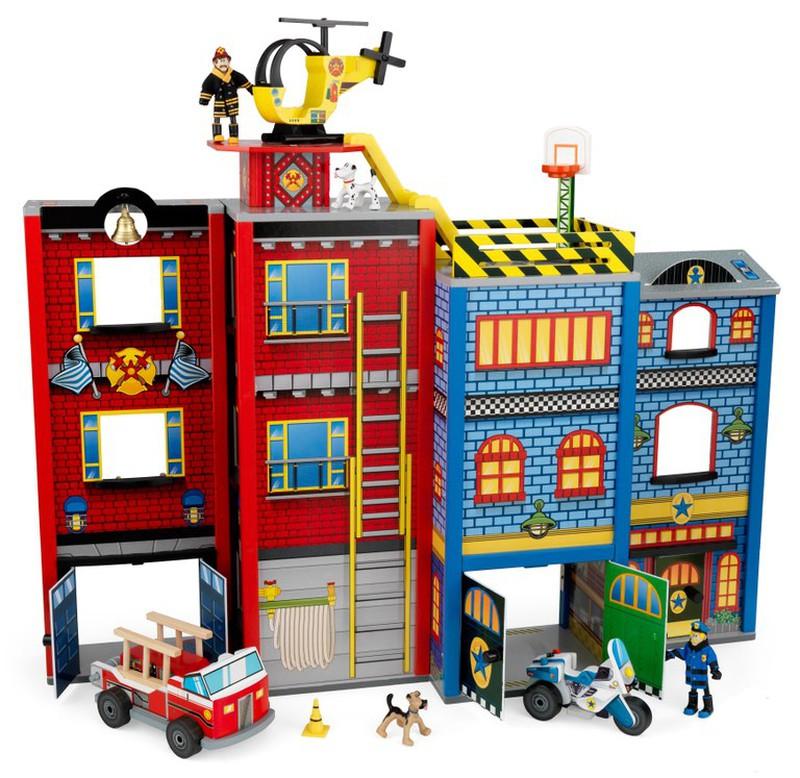 Caserne de pompiers et de police everday heroes brycus - Caserne de police playmobil ...