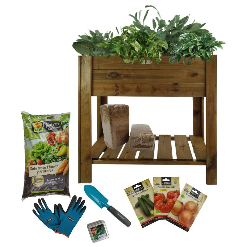Kit Completo Da Giardino Urbano In Legno Gardena Easy Grove Brycus