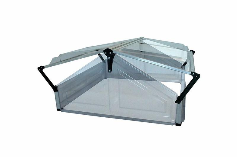 Invernadero policarbonato cristal tipo casa 105x108x53cm - Cristal policarbonato ...
