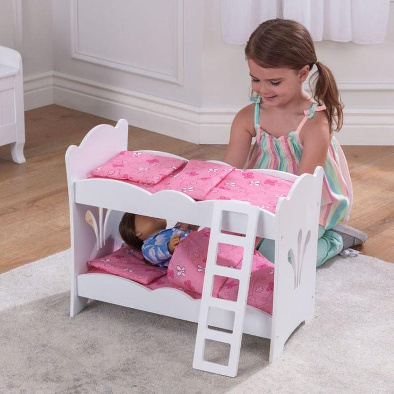 Letto A Castello Bambole.Letto A Castello Lil Doll Per Bambole Kidkraft Brycus
