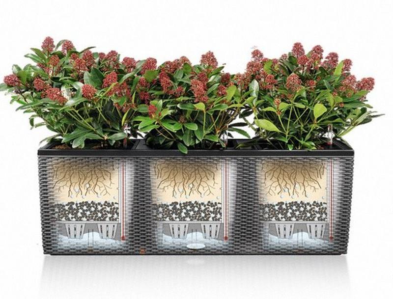 grande jardini re lechuza trio cottage 40 kit complet. Black Bedroom Furniture Sets. Home Design Ideas