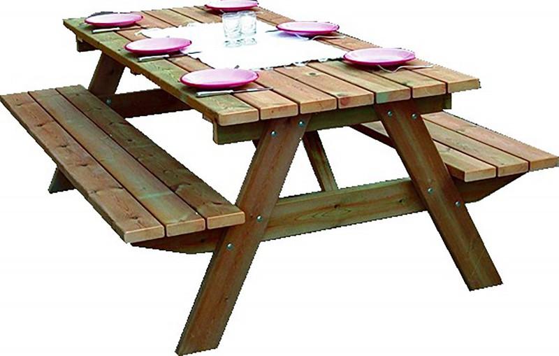 table de piquenique en bois forestiere 200 cm — brycus