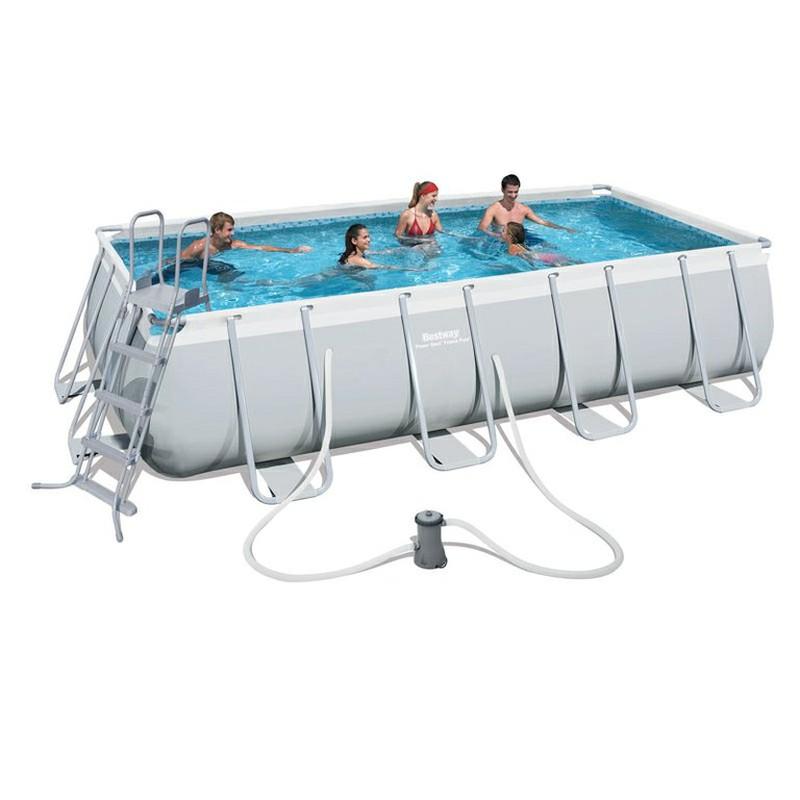 Piscina desmontable tubular bestway power steel brycus for Ofertas piscinas desmontables rectangulares