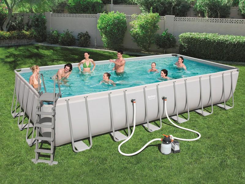 frame pool bestway rechteckig 732x366x132 cm brycus. Black Bedroom Furniture Sets. Home Design Ideas