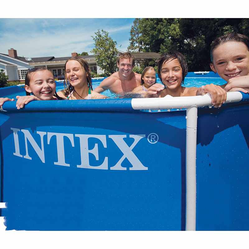 Piscina intex metal frame 549 x 122 cm con depuradora de for Piscinas rectangulares desmontables con depuradora