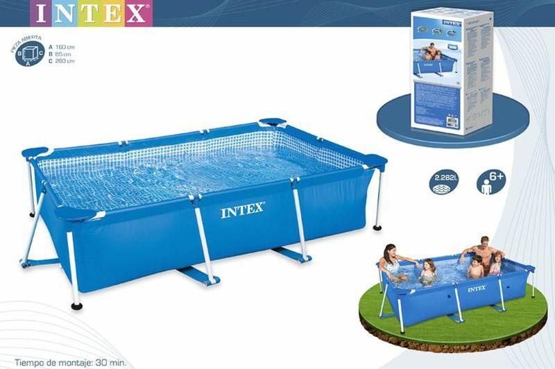 Piscina intex rectangular frame tubular brycus for Ofertas piscinas desmontables rectangulares