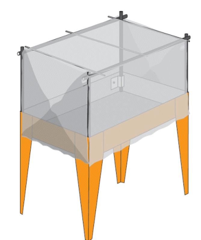sicherheitsnetz f r tisch hort urb f r v gel und katzen. Black Bedroom Furniture Sets. Home Design Ideas
