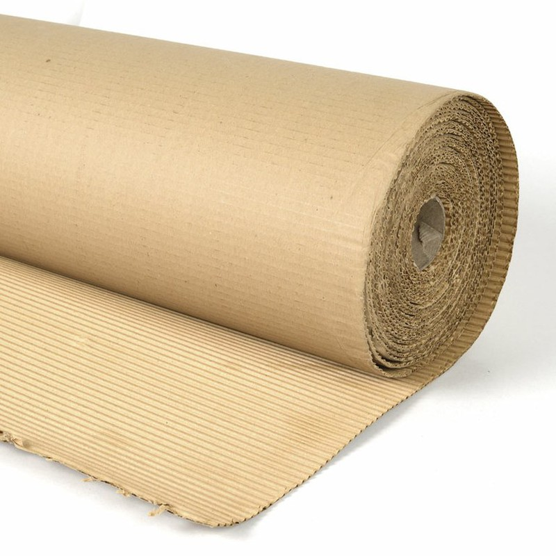 Corrugated cardboard roll for soil protection