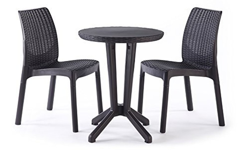 set table et chaises de balcon 2 places r sine keter. Black Bedroom Furniture Sets. Home Design Ideas