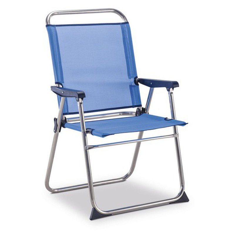 silla playa con respaldo alto
