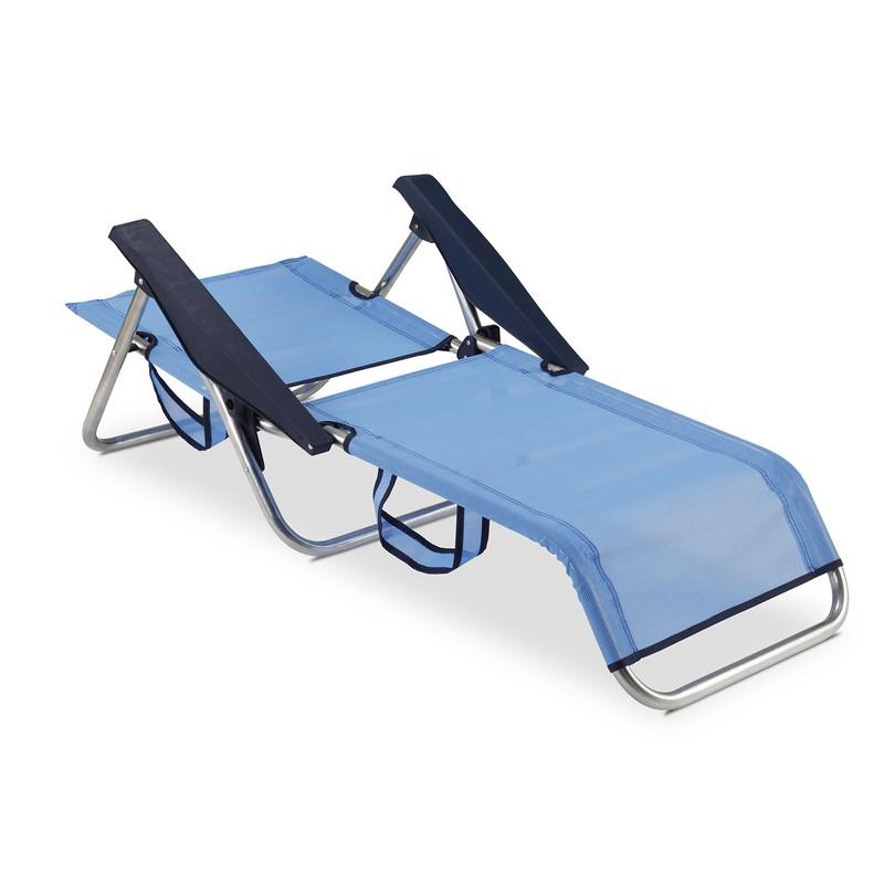 b892954b1 Silla Playa cama 4 Posiciones Solenny Azul con Asas — Brycus