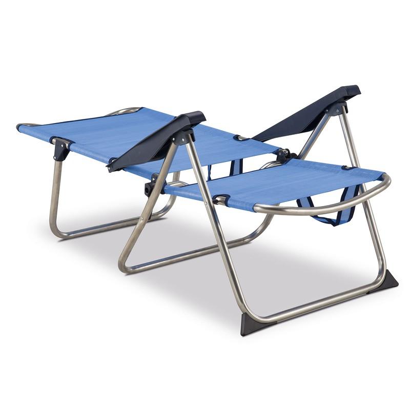 e4cc0857b Silla Playa y cama Alta 4 Posiciones con Asas con Estabilizadores Azul