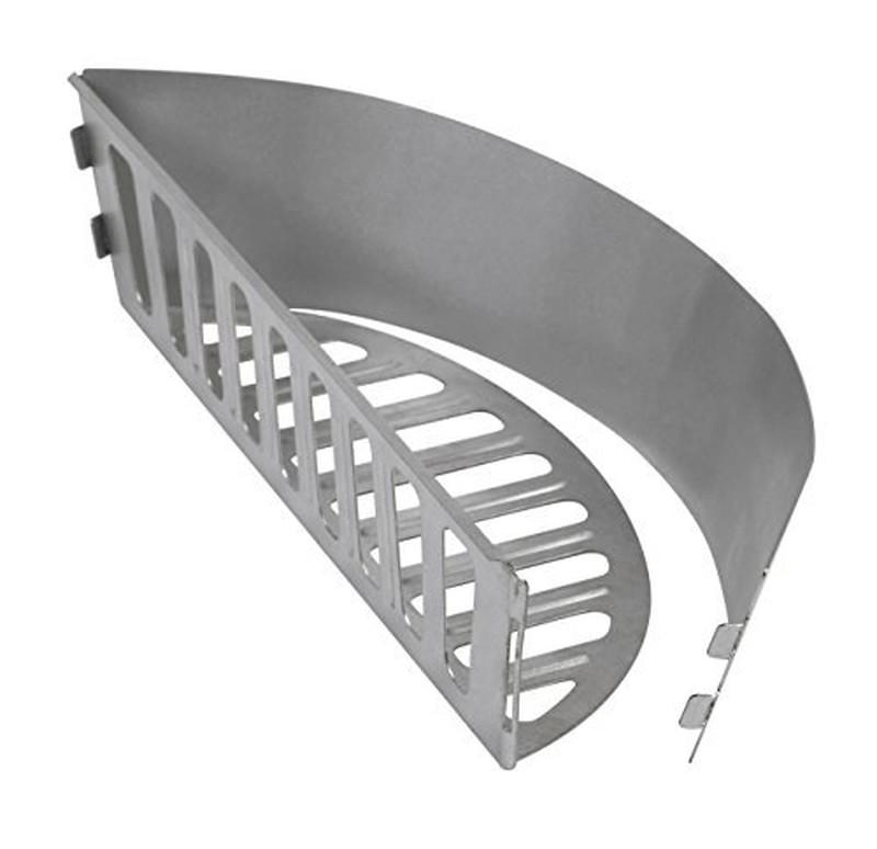 Grått sidobord för Weber kolgrilldiameter 47 och 57 cm