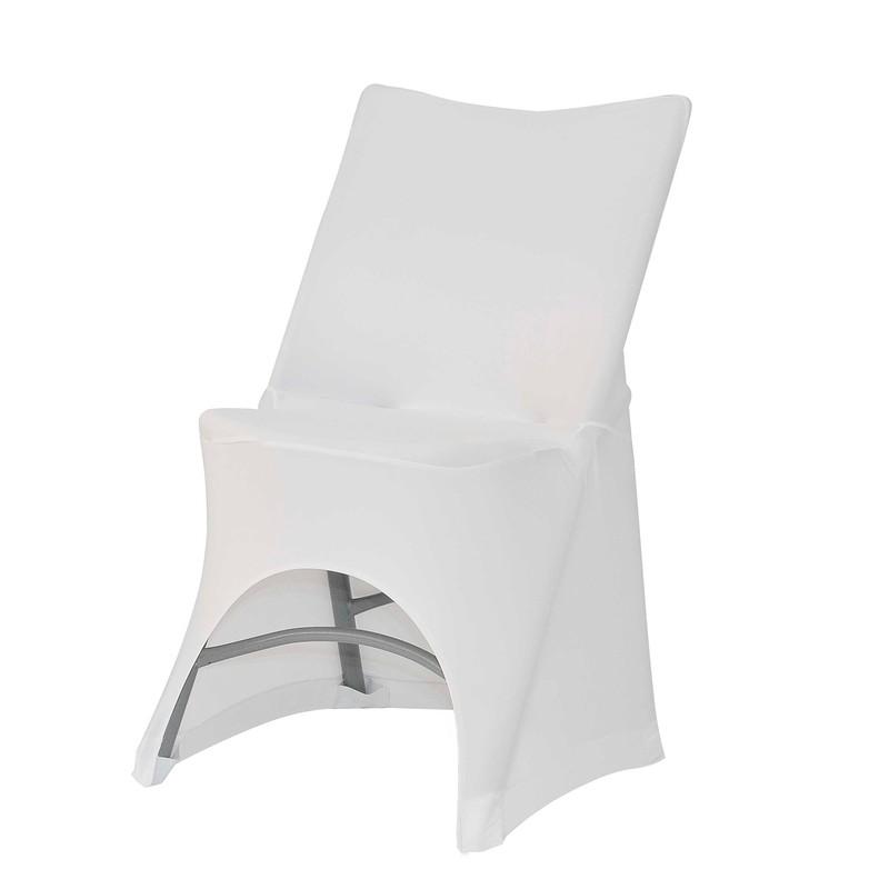 housse blanche pour chaises pliantes